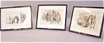 Set Edwin Austin Abbey Etchings On Rice Paper C1885