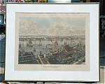 R Varin Print Of New York From Brooklyn Heights