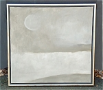Jon Schueler Moon Over Chester Ct Oil On Canvas