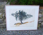 Brad Davis Acrylic Painting Oak Tree C1985