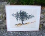 Brad Davis Acrylic Painting Oak Tree C1985