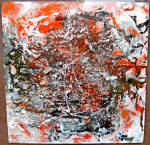 A Llyod R Ney (B 1893 D. 1964) Mixed Media Abstract Composition Oil Painting On Board By Noted Paf