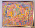 P R Macintosh Expressionist Abstract Oil Painting On Canvas C1940