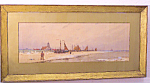 Frederick Dade Seascape Watercolour C1880