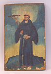 Mexican Painted Panel Of Saint Francis