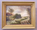 Roelofs Willem Dutch Landscape Oil Painting On Canvas C1859