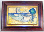 Briggs Cezannesque Abstract Seascape Oil Painting On Board C1900