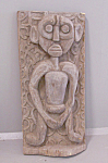 Early Indonesian Wood Carving Sculpture Of A Native