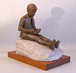 Bronze Figure Of Eugene O'neill As A Child By Norman Legassie