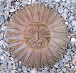 Native Indian Hand Carved Wood Sunburst Face