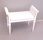 White Painted Bench With Ostrich Seat C1900
