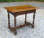 Louis Xlv Walnut Table With Drawer C1700