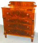 New England Late Federal Cherrywood 4 Drawer Chest