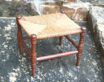 American Country Rush Seat Foot Stool C1880