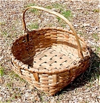 Antique Hickory Splint Basket Swing Handle C1830