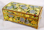 Japanese Imperial Yellow Cloisonne Enamel Presentation Box C1910