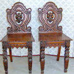 William Iv Walnut Hall Chairs 1820