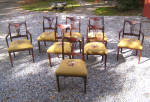 Set 8 Regency Mahogany Dining Chairs With Needlepointed Seats C1815