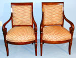 French Empire Charles X Open Arm Chairs Or Fauteuil C1830