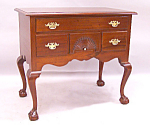 Centennial Mahogany Bench Made Chippendale Style Lowboy