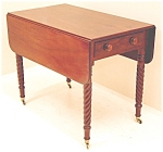 Antique American Sheraton Drop Leaf Table