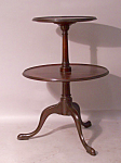 Georgian Style Two Tier Desert Table In Solid Mahogany 1860