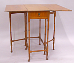 Tiger Maple Gate Leg Table With Drop Leaves C1900