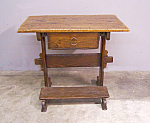 Continental Pine Rent Table With Drawer