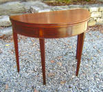 New York Chippendale Mahogany D Shape Card Table C1790