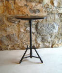 American Victorian Faux Bamboo Oval Top Plant Stand Side Table C1880