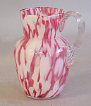 End Of The Day Art Glass Hand Blown Water Pitcher C1880