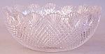 American Brilliant Cut Glass Diamond Berry Bowl