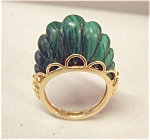 Estate Malachite And 14 Yellow Gold Ring