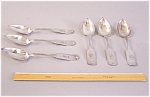 6 A W Wood Coin Silver Table Spoons