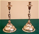 18thc South American Colonial Silver Candlesticks