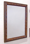 Hand Carved Antique Walnut Wall Mirror C1880