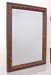Hand Carved Antique Walnut Wall Mirror C1880