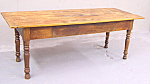 American Country Pine Kitchen Work Table With Drawer C1840