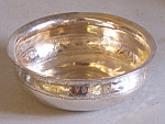 18th Century Coin Silver Wine Tasters Cup With 1780 Coin Inset