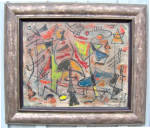 Irving G. Lehman Oil Tempera Abstract Painting C1937