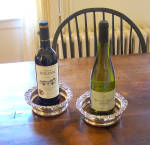 Silver Plated Matching Pair Of Wine Coasters C1870