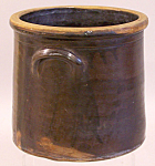 Early Connecticut Stoneware Brown Drip Glaze Crock C1800
