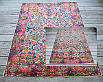 A Matched Pair Of Persian Scatter Rugs 4 X 5.10