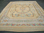 Kashmiri Indian Flat Woven Carpet Or Rug 10 Feet 14 Inches By 9 Feet