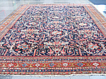 Mahal Persian Antique Rug Or Carpet Navy Blue Field C1900