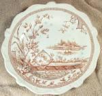 1880s Edge Malkin Mysore Aesthetic Plate