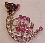 Rhinestone Cat Pin