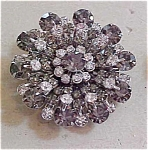 Smoke And Clear Rhinestone Brooch