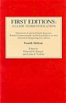 First Editions: A Guide To Identification - 4th Edition By Edward Zempel