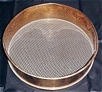 W.s. Tyler Co. Brass Sieve #8